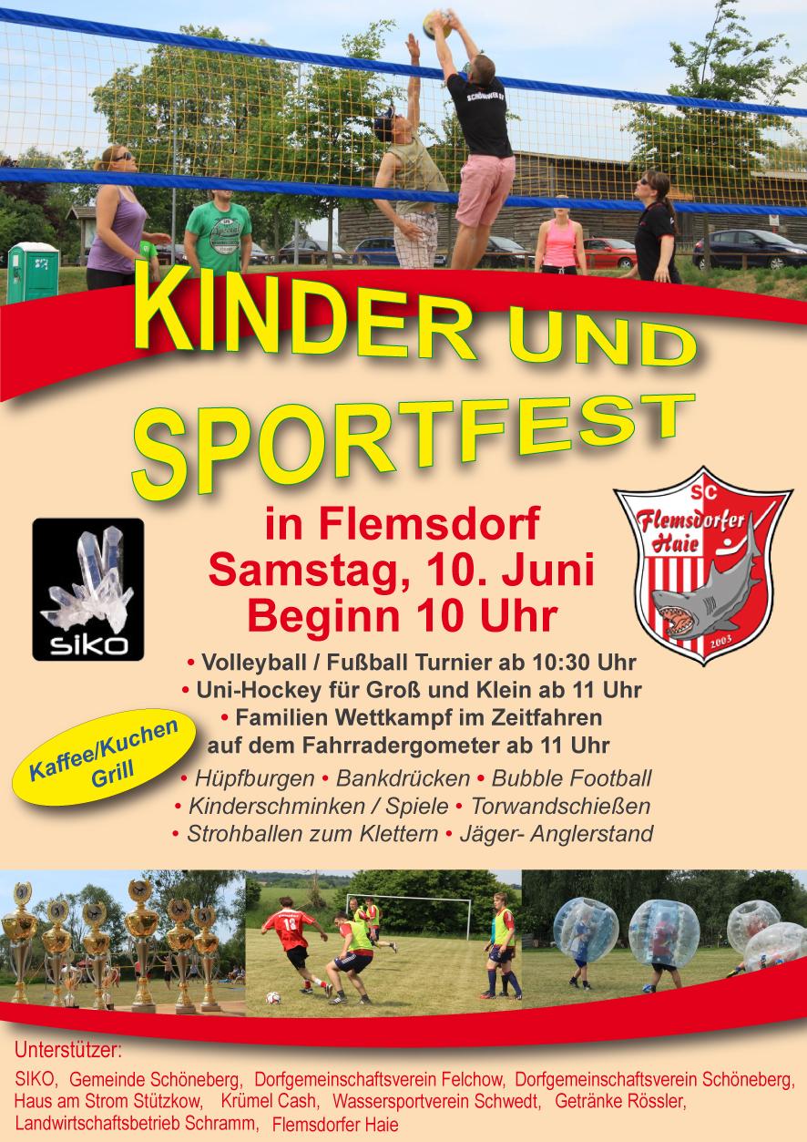 Kinder- und Sportfest der Flemsdorfer Haie und der Gemeinde ...